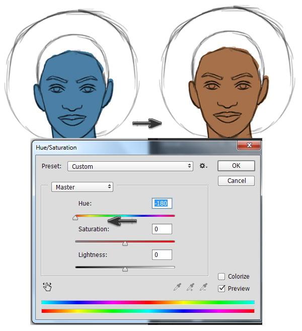 Picking Skin Base Tones in Adobe Photoshop