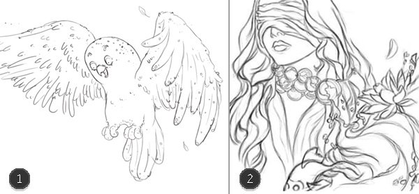 Digital Painting and Clean Line Art in Adobe Photoshop