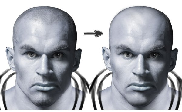 Use the Clone Stamp Tool to Create a Bald Head