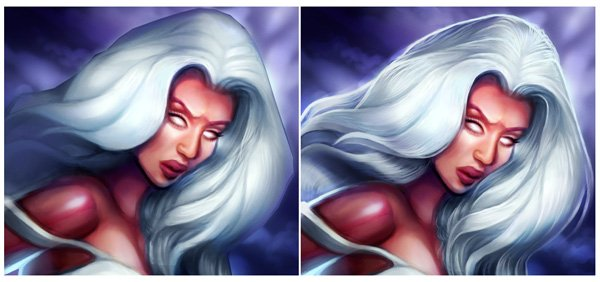 Digitally Painting Hair Strands in Adobe Photoshop