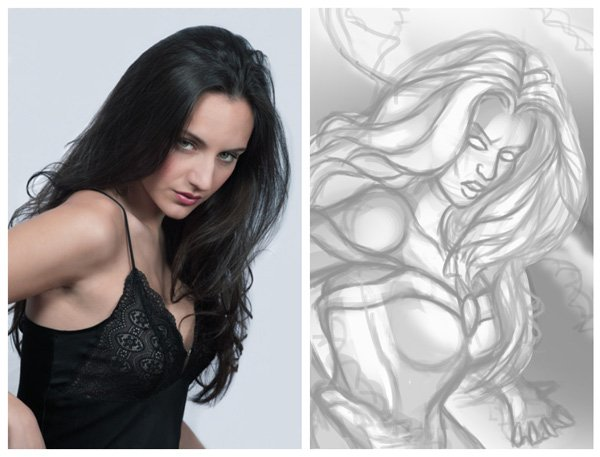 Storm Sketch and Photo Reference