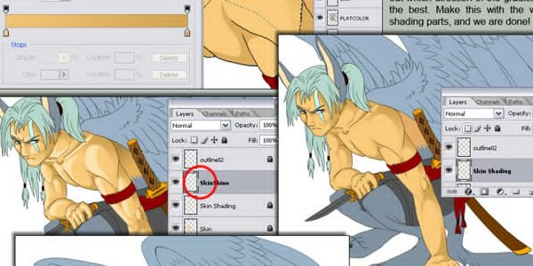 Advanced Cell Shading in Adobe Photoshop
