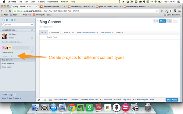 Project content types
