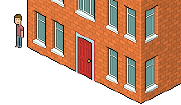 the door from the house