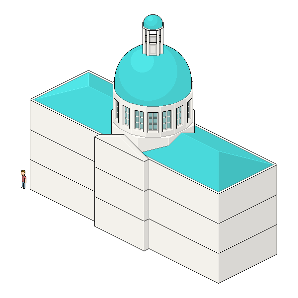 placing structure on top of dome