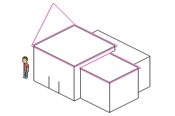 adding diagonal to roof