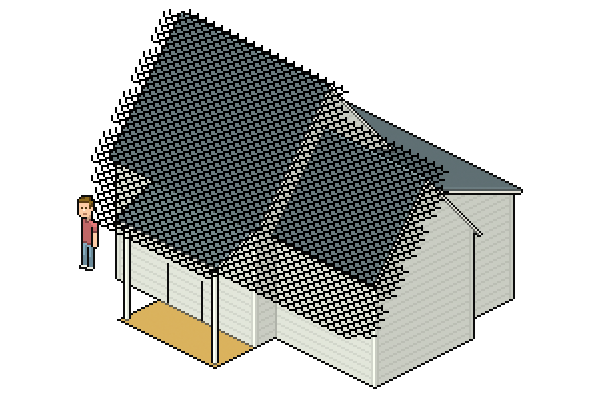 adding roof tile