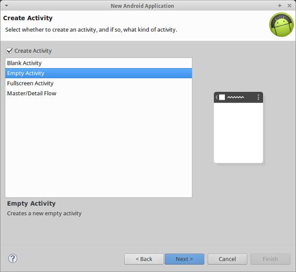 Create an Empty new Activity
