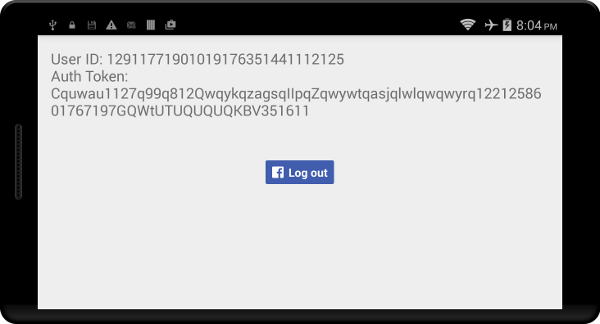 Result of a successful login