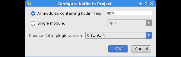 Configure Kotlin dialog