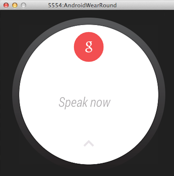 An Android Wear Cue Card