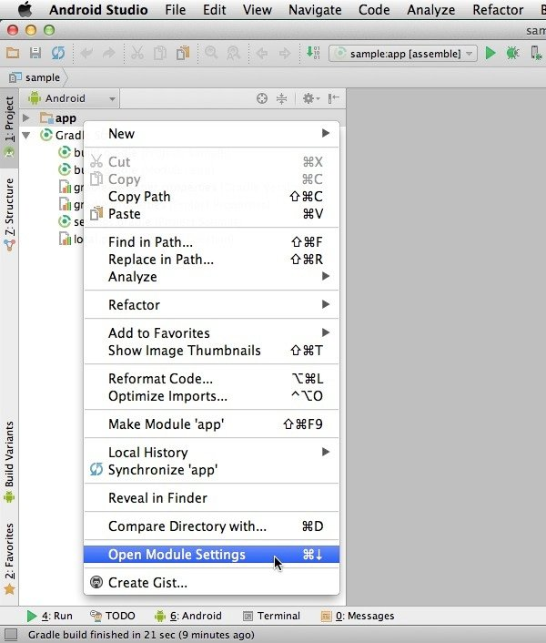 Add a dependency via the Android Studio UI
