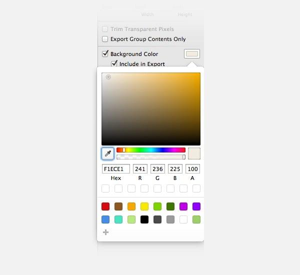 Usando el panel de color de Sketch