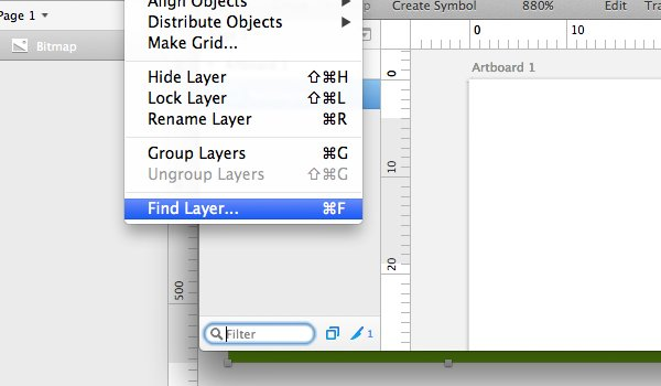 Find Layer tool