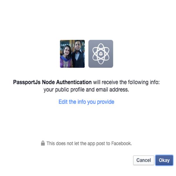 Facebook Auth - Grant Permissions