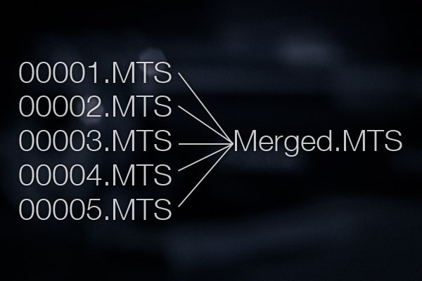 Merge spanned MTS files into a single continuous file