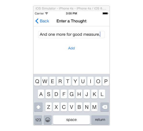 Adding thoughts on iOS