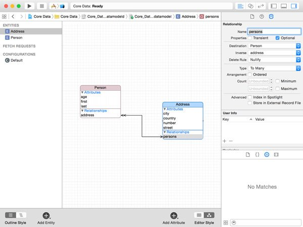 Adding a To-Many Relationship to an Entity in the the Core Data Model