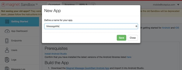 Creating a New Application
