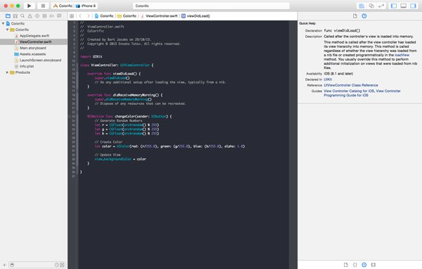 Browsing the Documentation in Xcode
