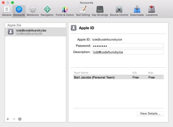 Adding an Apple ID