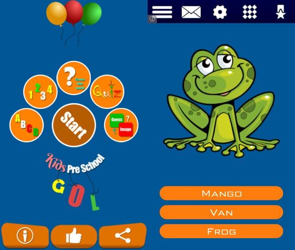 Educational App for Preschoolers