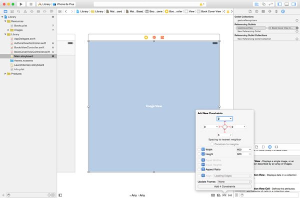 Adding Layout Constraints to the Image View