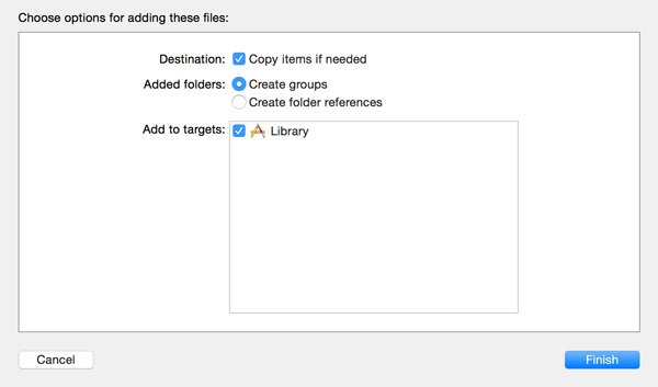 Copy Items Into Destination Folder of Group