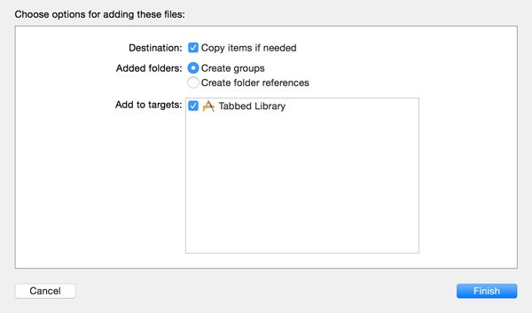 Copy Files to Project