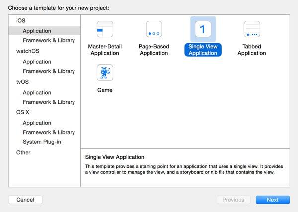 Choosing an Application Template