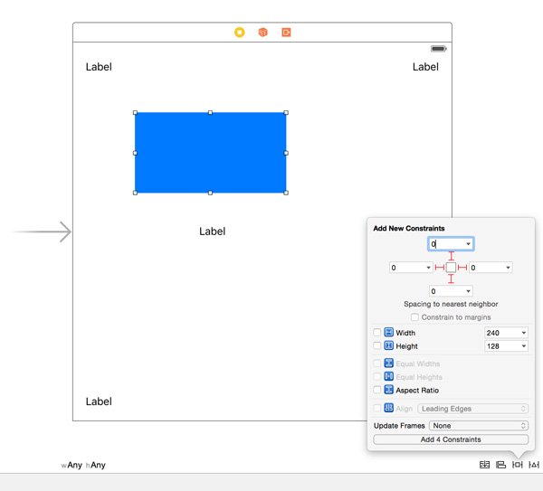 Add Four Constraints to the Blue View