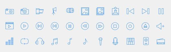Flat Linear Icon Set