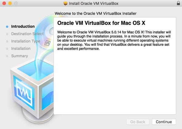 VirtualBox Installation On OS X