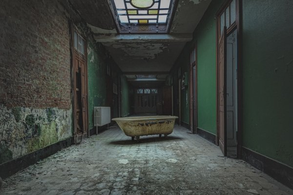 An Old Swimming Complex Belgium - Perishing by James Kerwin