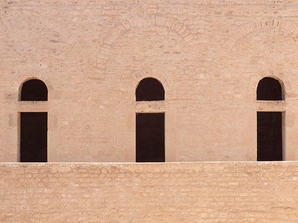 Negative space - three doors