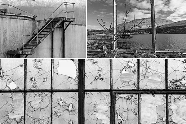 triptych of urban decay