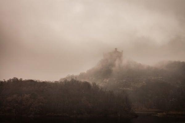 castle in mist