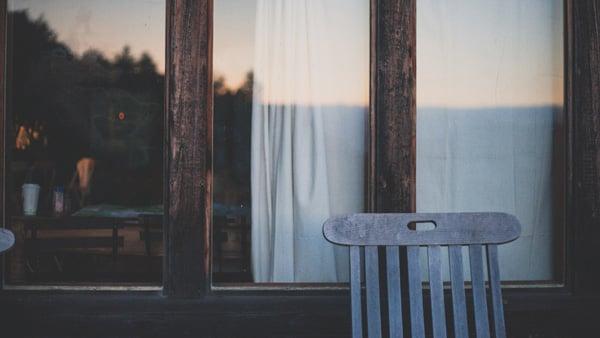 chair against a window