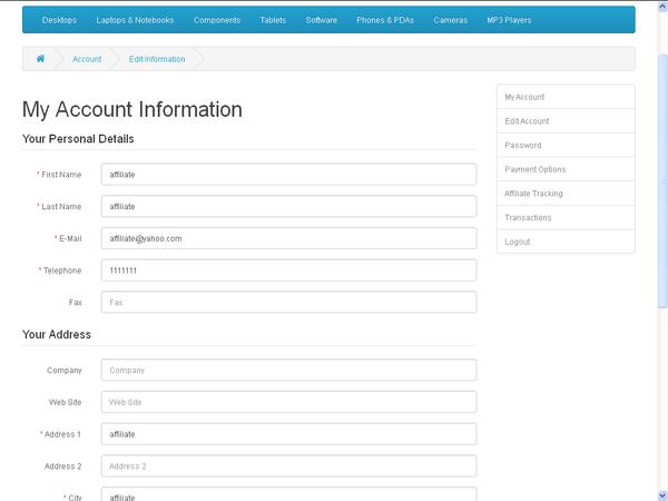 Edit Account Information