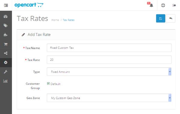 Add Tax Rate