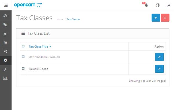 Tax Classes