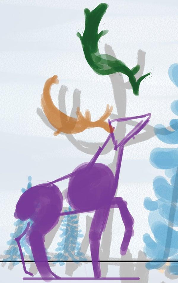 Rough deer plus antlers
