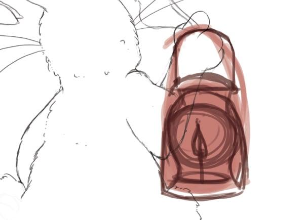 Rough lamp sketch