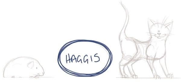 Haggis size comparison