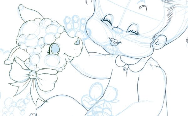 Inking the Lamb - Rotating Canvas