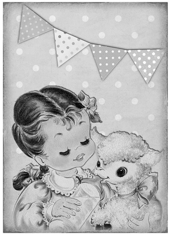 Greyscale Vintage Reference Image