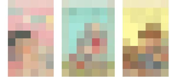 Palette demonstration - Pixelated