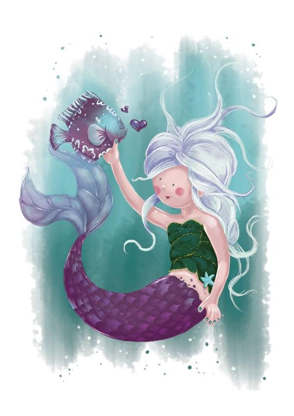Finished Mermaid Illustration