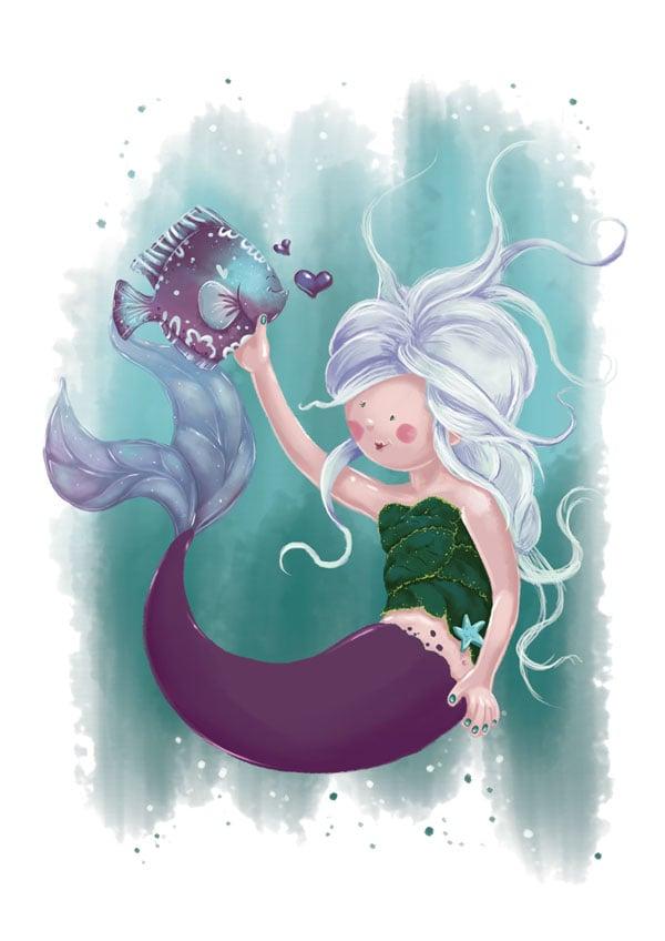 Mermaid Base Illustration