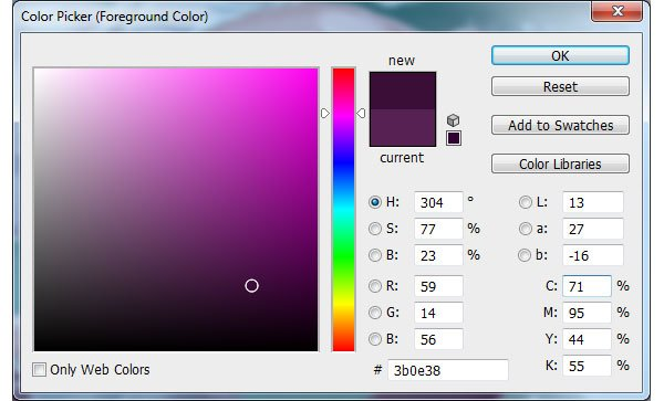 Dark Purple Colour Selection